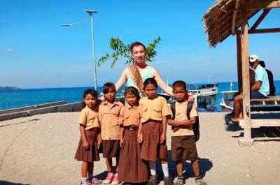 Moyo Island Village kids by Francis